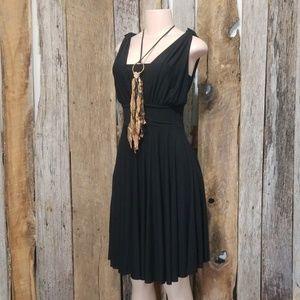 LIKE NEW! WHBM ELEGANT SIMPLE BLACK DRESS!